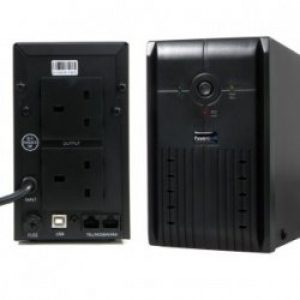 UPS0850 | Powercool Smart UPS 850VA 2 x 3 Pin Mains Plug, RJ45 x 2, USB LED Display w/ management software