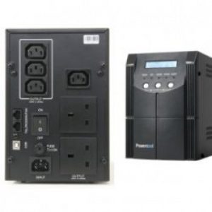 UPS2000 | Powercool Smart UPS 2000VA 2 x 3 Pin Mains Plug, 4 x IEC, RJ45 x 2, USB LED Display w/ management software